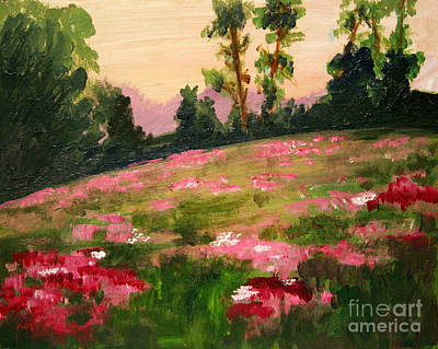 Painting - Blush On The Meadow by Julie Lueders