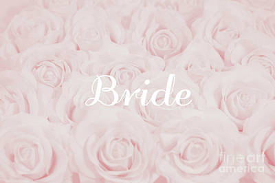 Blush Pink Bride Art Print