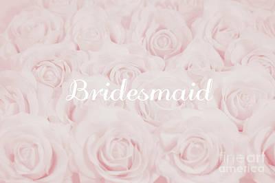 Blush Pink Bridesmaid Art Print