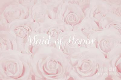 Blush Pink Maid Of Honor Art Print