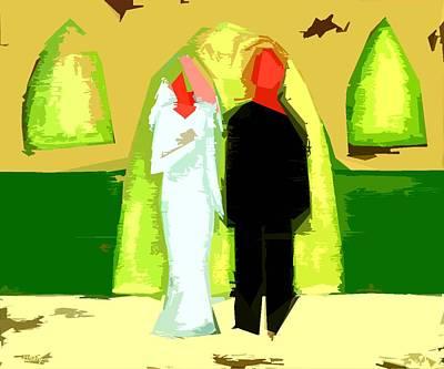 Blushing Bride And Groom 2 Art Print by Patrick J Murphy