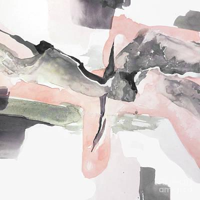 Wall Art - Painting - Blushing Grey 1 by Chris Paschke