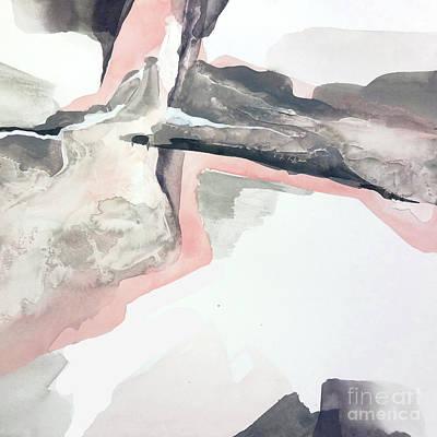 Wall Art - Painting - Blushing Grey 2 by Chris Paschke