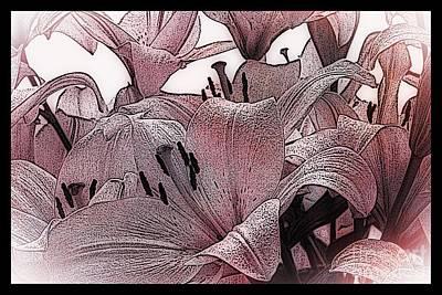 Blushing Lilies Art Print by Elizabeth McTaggart