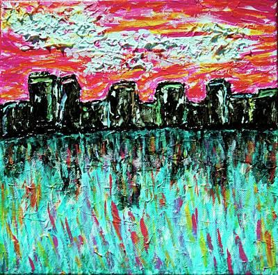 Painting - Blushing Metropolis by April Harker