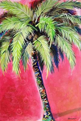 Painting - Blushing Pink Palm by Kristen Abrahamson