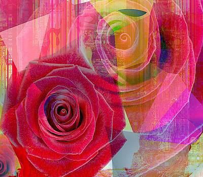 Yesayah Mixed Media - Blushing Rose by Fania Simon