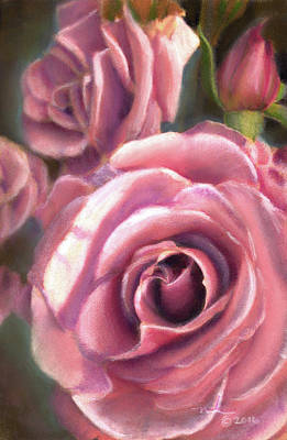 Painting - Blushing Roses by Melissa Herrin