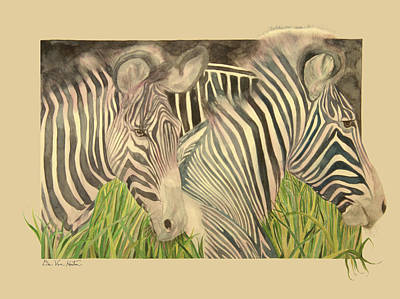 Painting - Zebra Blushing Stripes by Dee Van Houten