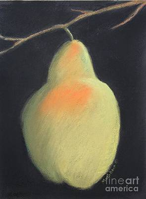 Painting - Blushing Yellow Pear by Mary Erbert