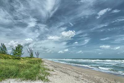 Photograph - Blustery Coast by John M Bailey