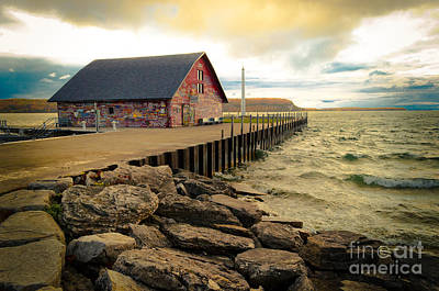Blustery Day At Anderson Barn Art Print