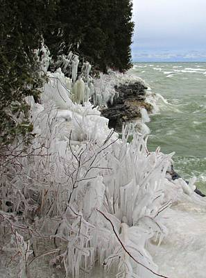 Art Print featuring the photograph Blustery Lake Michigan Day by Greta Larson Photography