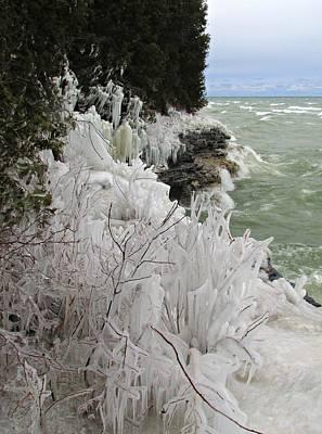 Photograph - Blustery Lake Michigan Day by Greta Larson Photography