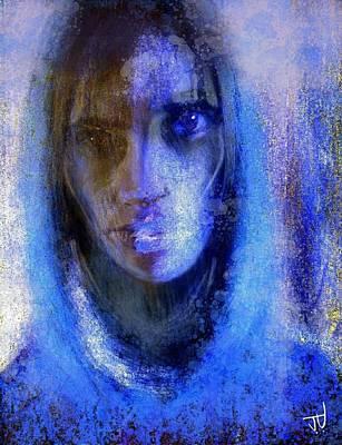 Digital Art - Blue Hoodie by Jim Vance