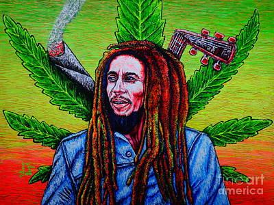 Bob Marley Abstract Painting - BM by Viktor Lazarev