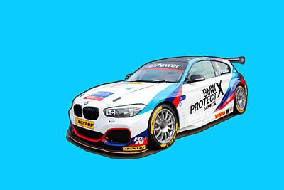 Digital Art - Bmw 125i M Sport Btcc by Roger Lighterness