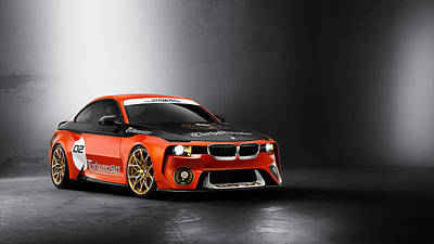 Hommage Digital Art - Bmw 2002 Hommage Concept   1 by F S