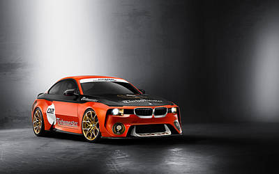 Hommage Digital Art - Bmw 2002 Hommage Concept  by F S
