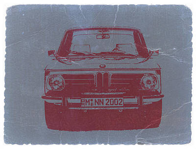 Vintage Car Photograph - Bmw 2002 by Naxart Studio