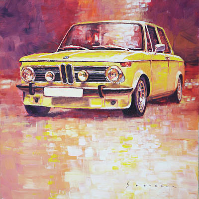 Bmw Painting - Bmw 2002 Turbo by Yuriy Shevchuk
