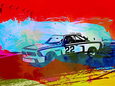 Bmw 3.0 Csl Racing Art Print by Naxart Studio