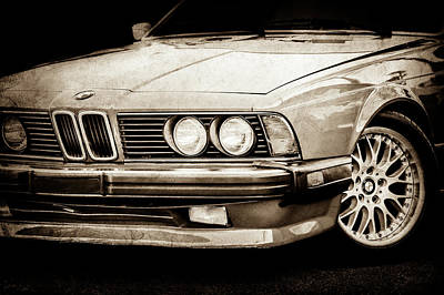 Photograph - Bmw 635csi Grille -1718s by Jill Reger