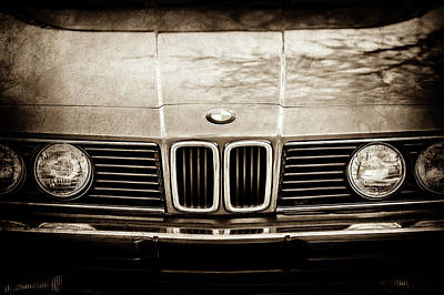 Photograph - Bmw 635csi Grille -1733s by Jill Reger