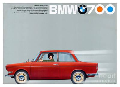 70s Photograph - Bmw 700 Advertisement by Jon Neidert