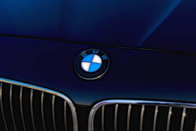 Photograph - Bmw Black Bonnet by John Williams