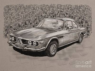 Bmw E9 Print by Robert Yaeger