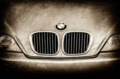 Photograph - Bmw Grille -1123s by Jill Reger