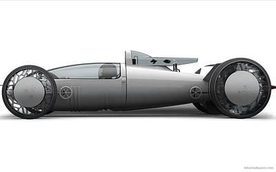 Bmw Hydrogen Salt Racer 2 Wide Art Print