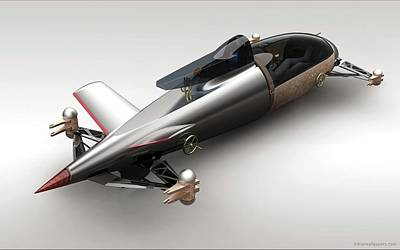 Bmw Hydrogen Salt Racer 3 Wide Art Print
