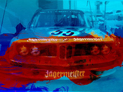 Watercolor Photograph - Bmw Jagermeister by Naxart Studio