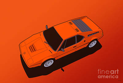 Bmw M1 E26 Red Orange Art Print
