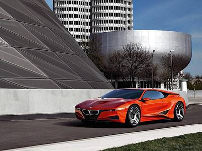 Hommage Digital Art - Bmw M1 Homage Concept by Mery Moon
