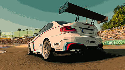 Painting - Bmw M1 - Rear View by Andrea Mazzocchetti