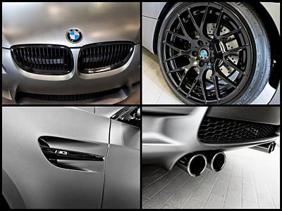Bmw M3 Photograph - Bmw M3 Collage by Aaron Berg