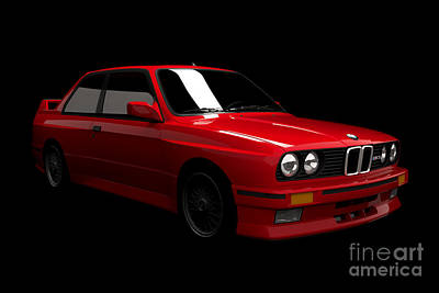 Digital Art - Bmw M3 E30 by David Marchal
