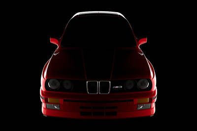 Digital Art - Bmw M3 E30 - Front View by David Marchal