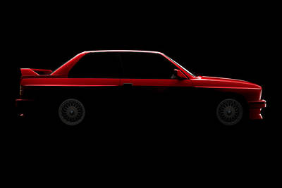 Digital Art - Bmw M3 E30 - Side View by David Marchal