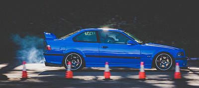 Open Impressionism California Desert Royalty Free Images - Bmw M3 E36 Royalty-Free Image by Christian Flores