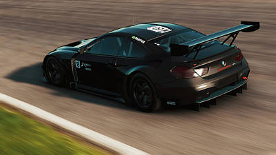 Photograph - Bmw M6 Gt3 - 21  by Andrea Mazzocchetti