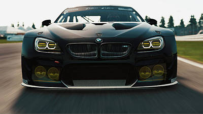Photograph - Bmw M6 Gt3 - 24 by Andrea Mazzocchetti