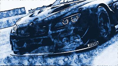 Digital Art - Bmw M6 Gt3 - 32 by Andrea Mazzocchetti