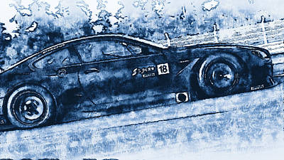 Digital Art - Bmw M6 Gt3 - 35 by Andrea Mazzocchetti