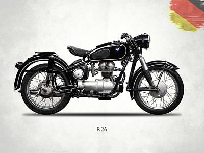 Photograph - Bmw R26 1958 by Mark Rogan