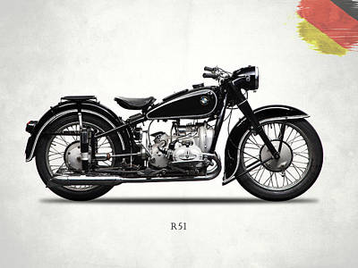 Photograph - Bmw R51 1951 by Mark Rogan