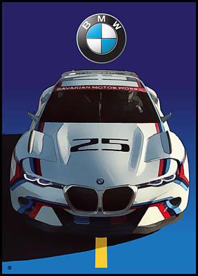 Digital Art - Bmw Racer by Gary Grayson